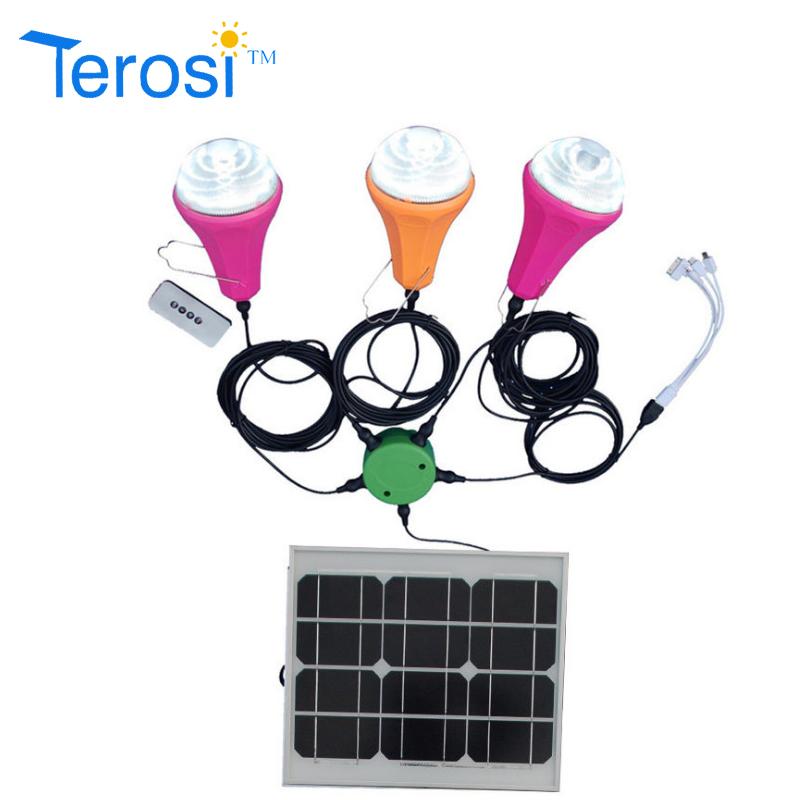 LED Bulb-Solar Light For Three Bulb