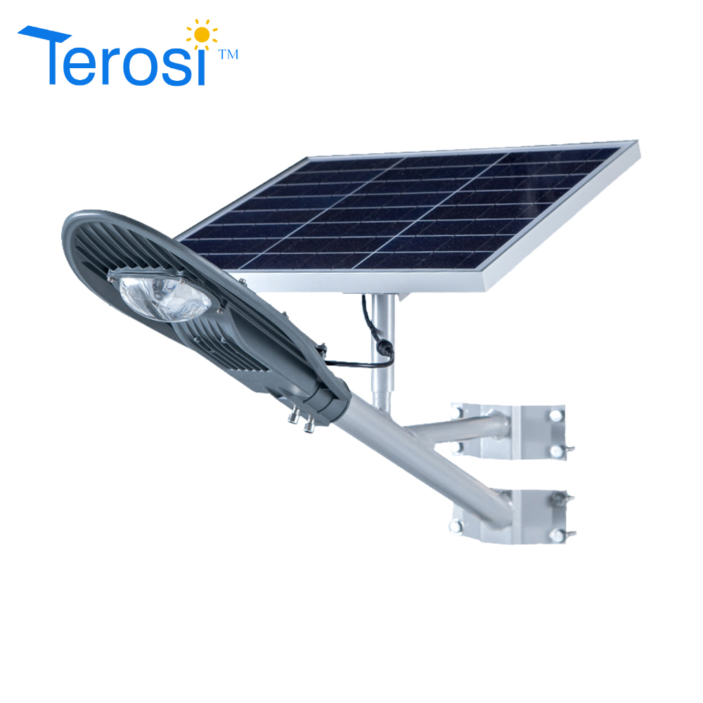 CE RoHS FCC IP65 Lumileds LED chip all in one Seperated solar street light