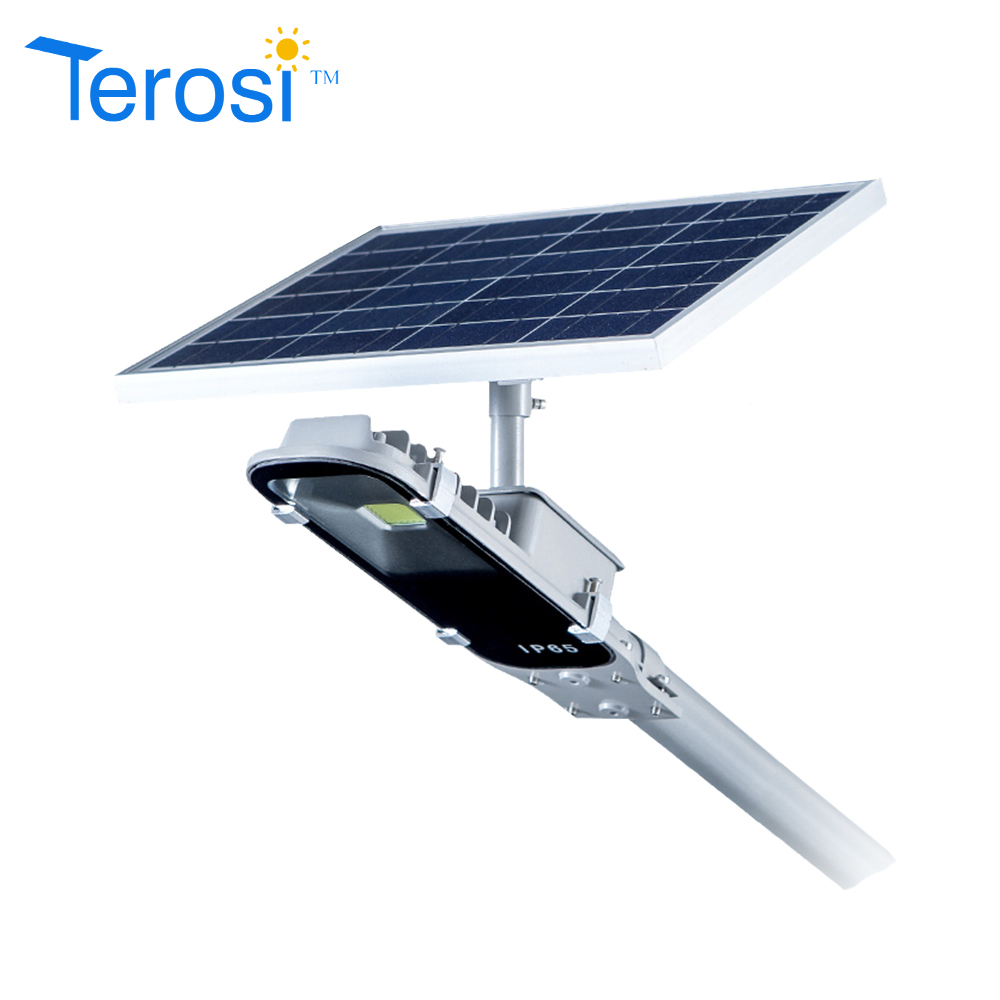 Terosi Technology Co Ltd Solar Powered Garden Lamp With Light Sensor All In One Street Power Lights Motion