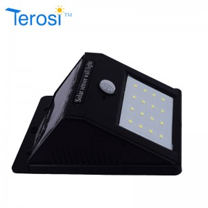 1(W) Solar wall light from Terosi
